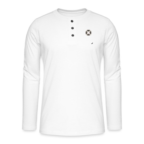 'Goose Circle' by BlackenedMoonArts - Henley T-shirt med lange ærmer