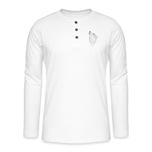 Geo Wolf - Henley shirt met lange mouwen