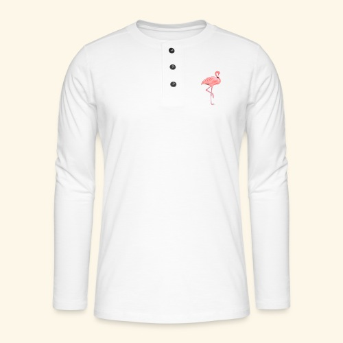 flamingo pink collection - Henley long-sleeved shirt