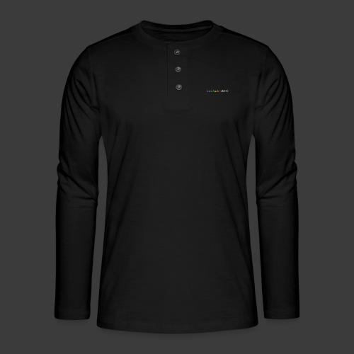 rainbow for dark background - Henley long-sleeved shirt