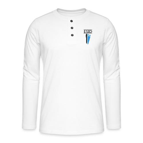 ESID Zwart-blauw - Henley shirt met lange mouwen