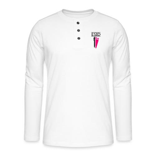 ESID Zwart-roze - Henley shirt met lange mouwen