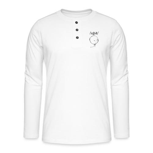 logo mit kreisling - Henley Langarmshirt