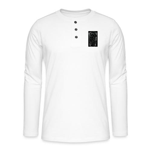 Leergut Dubbeglas -schwarz - Henley Langarmshirt