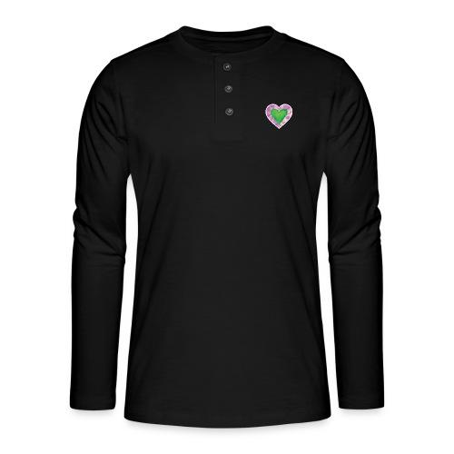 Green Heart - Henley long-sleeved shirt
