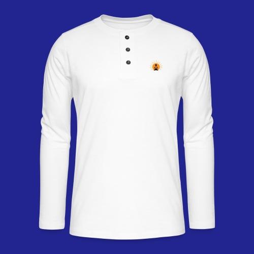 Guramylyfe logo no text black - Henley long-sleeved shirt