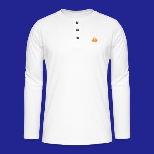 Guramylyfe logo white no text - Henley long-sleeved shirt