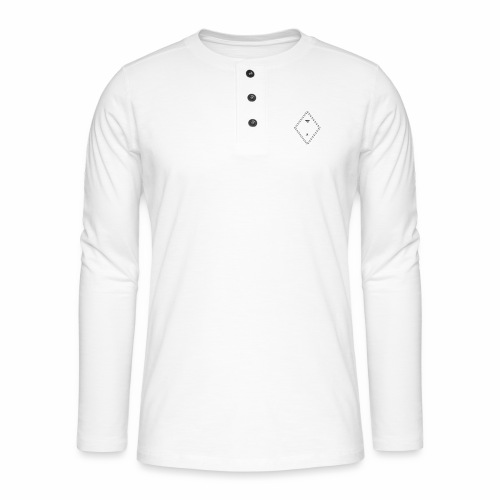 MS - Henley T-shirt med lange ærmer