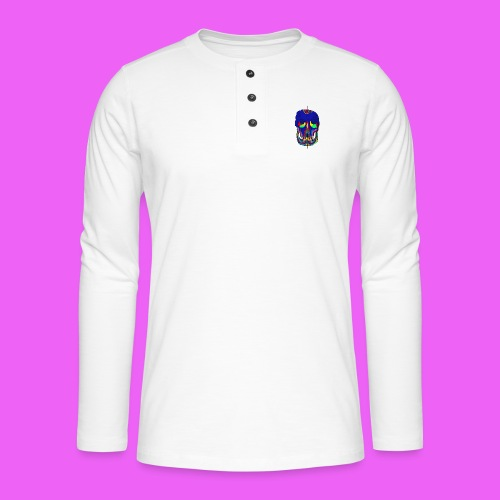 craneos 2 - Camiseta panadera de manga larga Henley