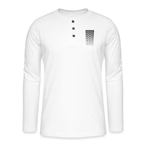Norge Norge Norge Norge Norge Norge - Henley langermet T-skjorte