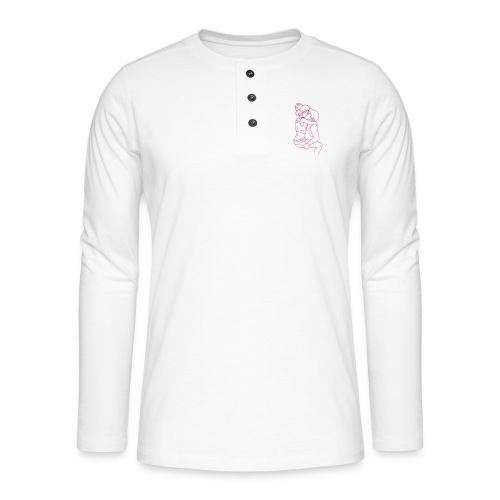 couple in love kissing kb2 - Maglia a manica lunga Henley