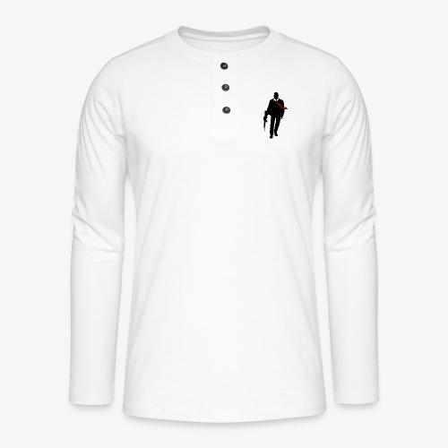 PREMIUM SO GEEEK HERO - MINIMALIST DESIGN - T-shirt manches longues Henley