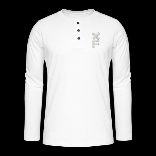 XF Xanax Logo - Henley Langarmshirt