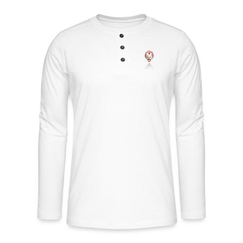clown-png - Henley shirt met lange mouwen