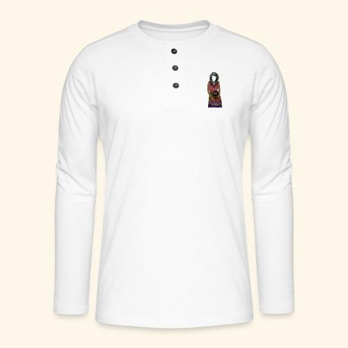 Femme avec jare - T-shirt manches longues Henley