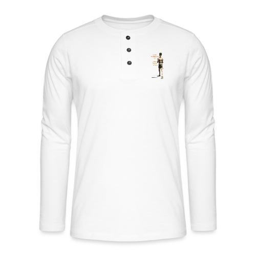 Fight Antiziganism like Johann Rukeli Trollmann - Henley long-sleeved shirt