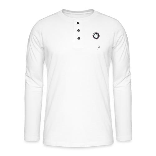 'Tasmanian Devil Mandala' by BlackenedMoonArts - Henley T-shirt med lange ærmer