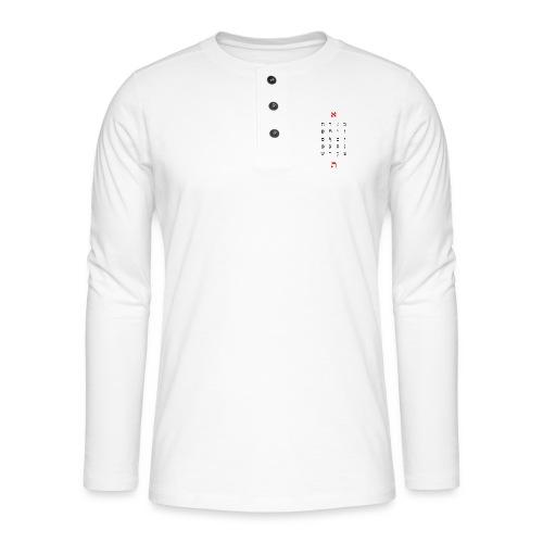 Hebrew alphabet (alephbet) - Camiseta panadera de manga larga Henley