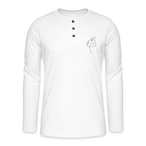 Logo Visage au Trait - T-shirt manches longues Henley