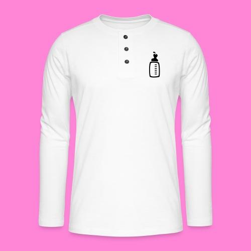 melkfles1 - Henley shirt met lange mouwen