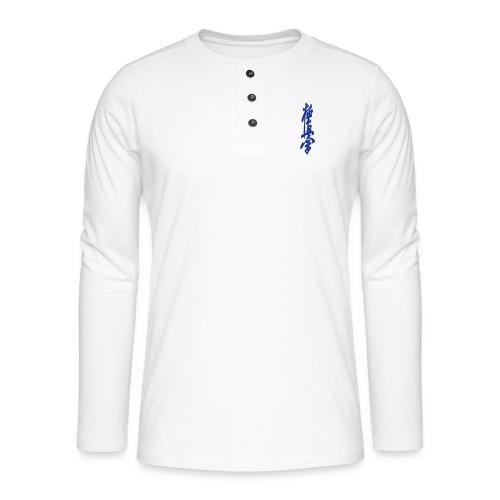 KyokuShin - Henley shirt met lange mouwen