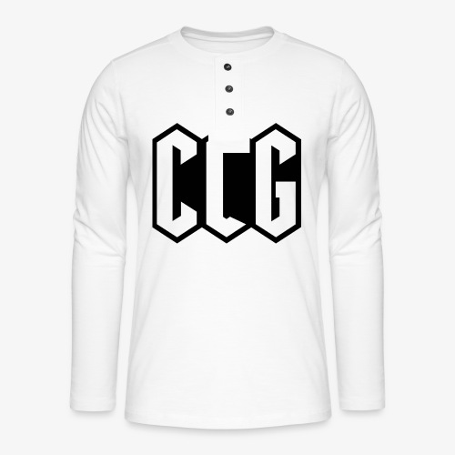 CLG DESIGN black - T-shirt manches longues Henley