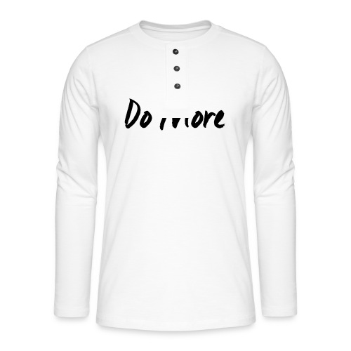 dark logo transparent background - T-shirt manches longues Henley