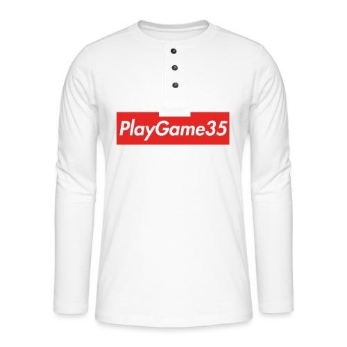 PlayGame35 - Maglia a manica lunga Henley