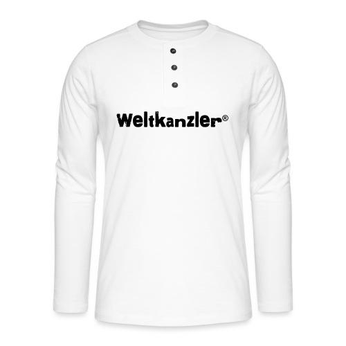 Weltkanzler® Männer Vintage T-Shirt - Henley Langarmshirt