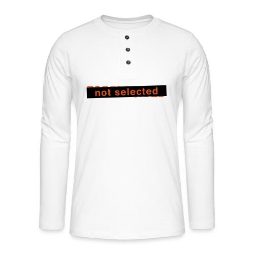 Not Selected - Henley shirt met lange mouwen