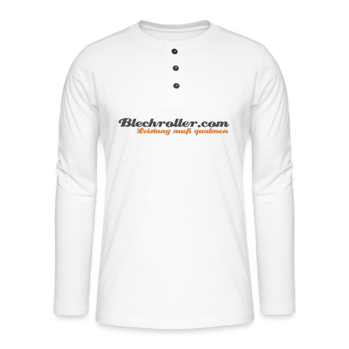 blechroller logo - Henley Langarmshirt