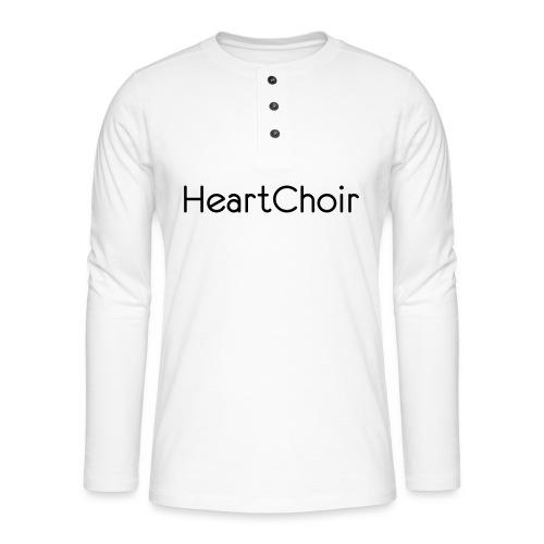 schriftzug heartchoir - Henley Langarmshirt
