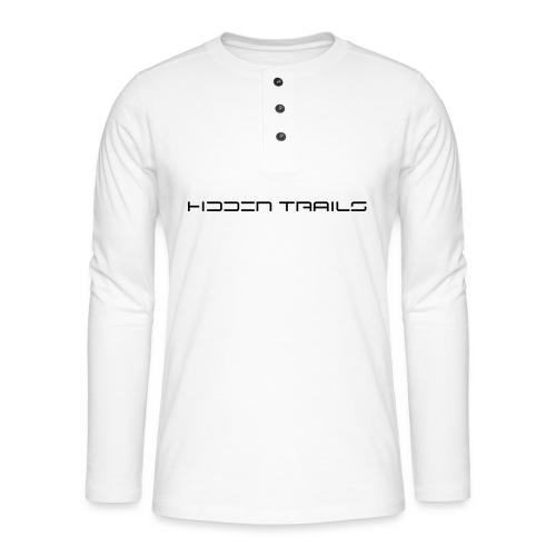 hidden trails - Henley Langarmshirt