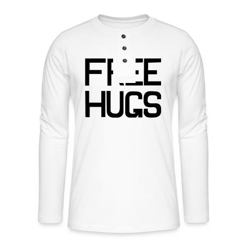 FREE HUGS - Henley shirt met lange mouwen
