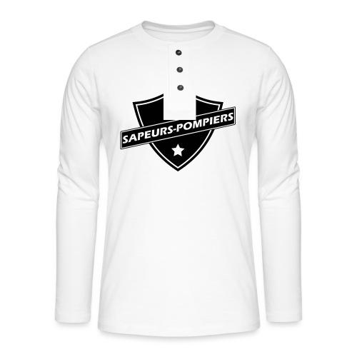 blason sapeurs-pompiers - T-shirt manches longues Henley