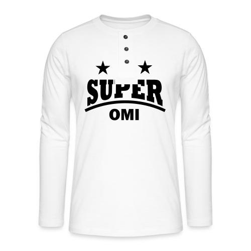 cool super omi raster - Henley shirt met lange mouwen