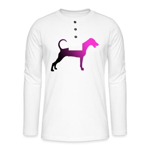 Dobermannfemnatpinkblack2 - Henley pitkähihainen paita