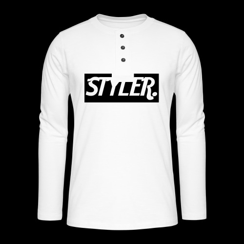 STYLER-LOGO - T-shirt manches longues Henley