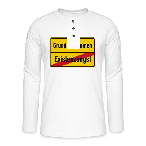 Grundeinkommen BGE - Henley Langarmshirt