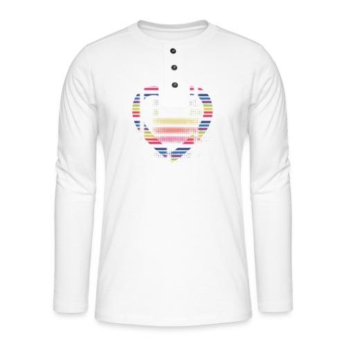 Love - Koszulka henley z długim rękawem