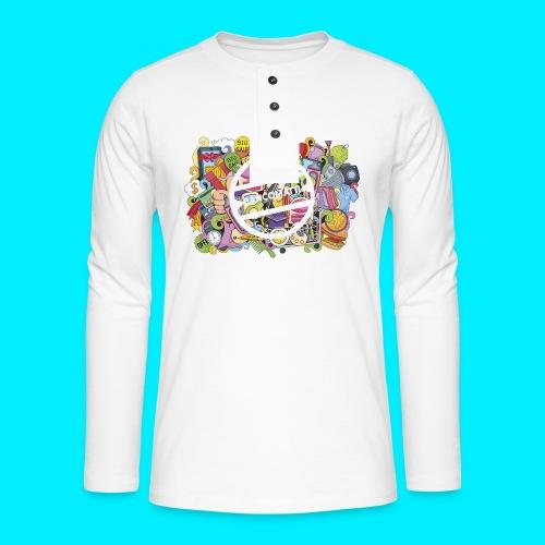 maglia logo doodle - Maglia a manica lunga Henley