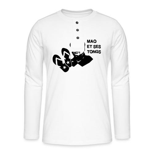 MAO et ses tongs - T-shirt manches longues Henley