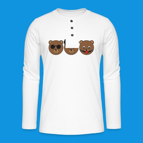 3 Wise Bears - Henley long-sleeved shirt