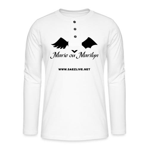 Marie ou Marilyn (version dark) - T-shirt manches longues Henley