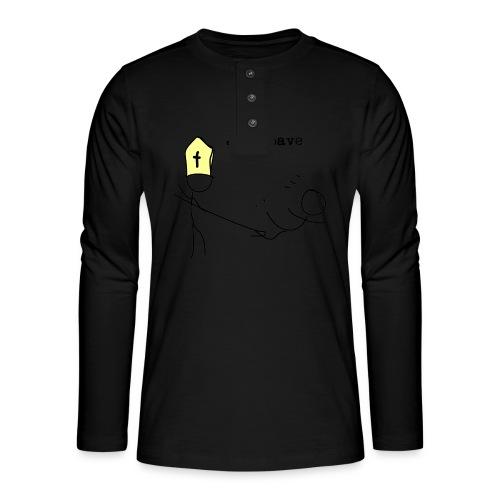 juksepave png - Henley langermet T-skjorte