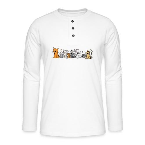 Cats & Cats - Henley shirt met lange mouwen
