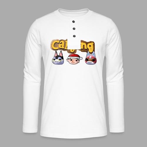 Animal Crossing CatGang - Henley Langarmshirt