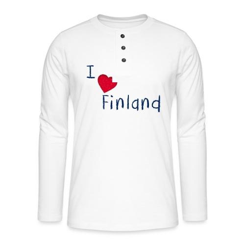 I Love Finland - Henley pitkähihainen paita