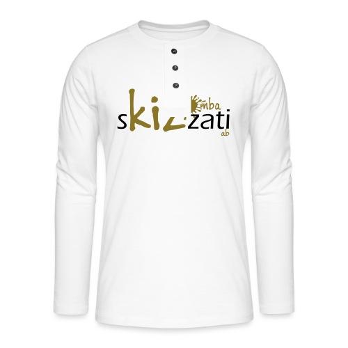 T-Shirt attillata sKizzati Kizomba Uomo verde fluo - Maglia a manica lunga Henley