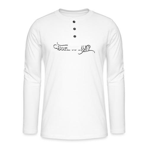 Born-to-RUN---Logo---White.png - Henley Langarmshirt